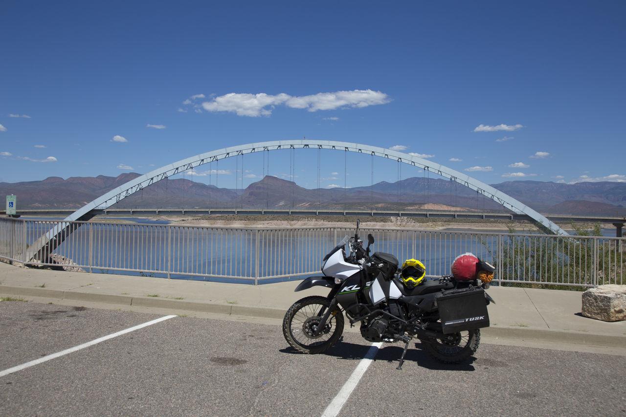 KLR650 Lake Roosevelt Lakeview Motorcycle Roosevelt Bridge Senic