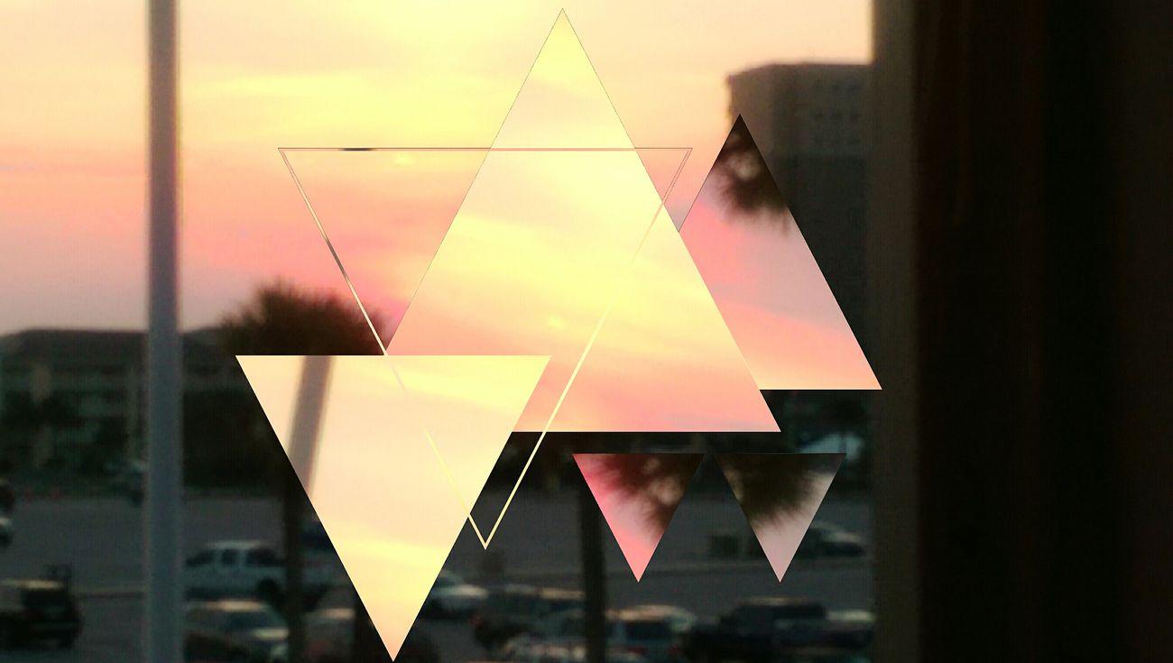 Kaleidoscope sunset in Florida Sunset Kaleidoscope On The Top Floor