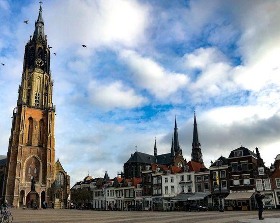Delft Architecture Religion Built Structure Place Of Worship Cloud - Sky Building Exterior Tower City