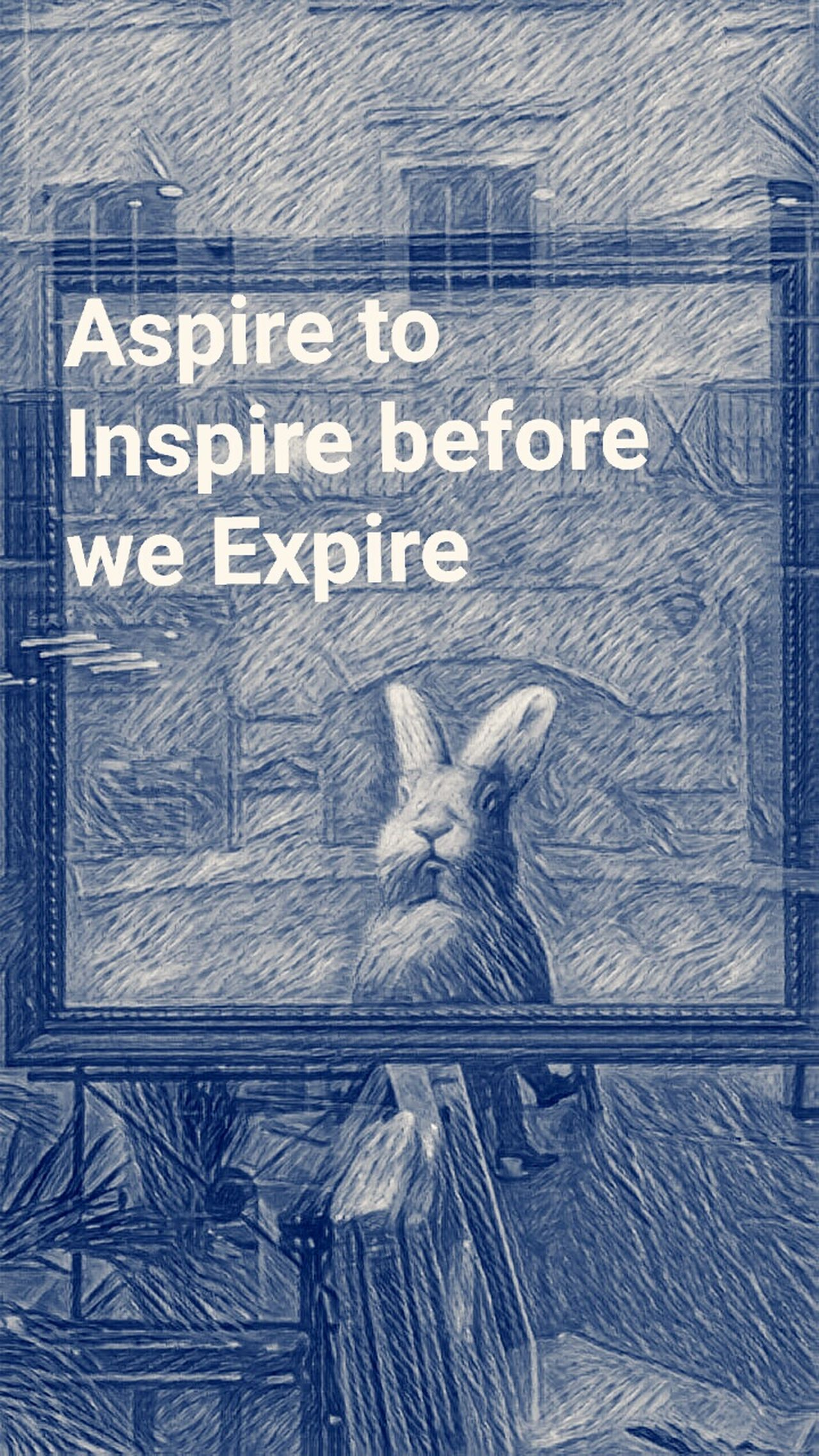 Sometime's In Life we must. Rabbit Text Day Original No People Communication Aspire Inspired By Art
