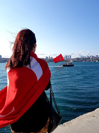 15temmuz UNUTMADIK Countrylove Only Women One Person Adult Sea Women People Red Clear Sky Young Women Beach Water One Woman Only Adults Only One Young Woman Only Young Adult Rear View Long Hair Sky Day Outdoors