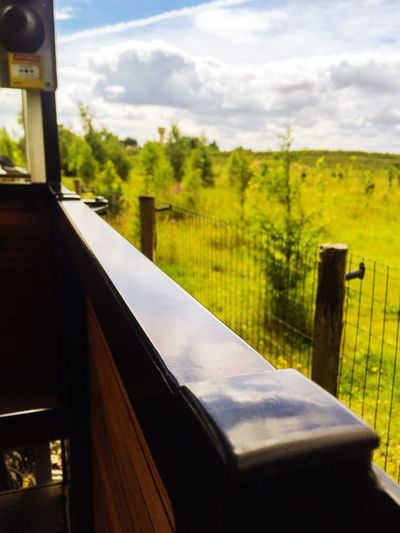 The Journey Is The Destination On The Way On The Train Sky Landscape Field Clouds Trees Tranquil Scene Rural Scene Focus On Foreground Beauty In Nature Train From My Point Of View From A Moving Vehicle Meaux Finding New Frontiers Traveling Home For The Holidays