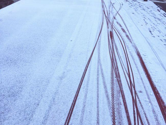 Bike Tracks Snow Snowminimals Pattern Pieces Winter