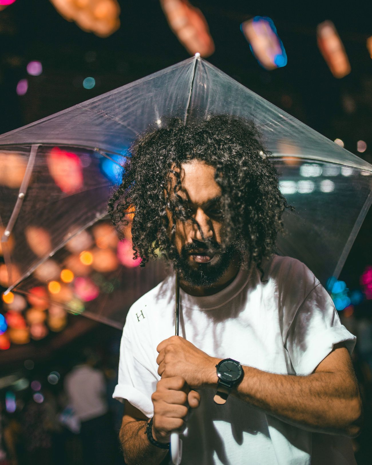 City lights alive One Man Only Illuminated Nightlife Close-up Beautiful People Portraits Of EyeEm Bokeh Photography Bokeh Lights Light Collection Street Lights Street Photography Street Colorful Vibrant Color