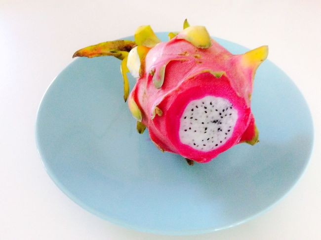 Colour Of Life Fruit Dragonfruit Illuminated Nature Botany Multi Colored Organic Food Healthy Eating No People Natural Pattern Summer Plate Exotic Fruits Selective Focus Beauty In Nature