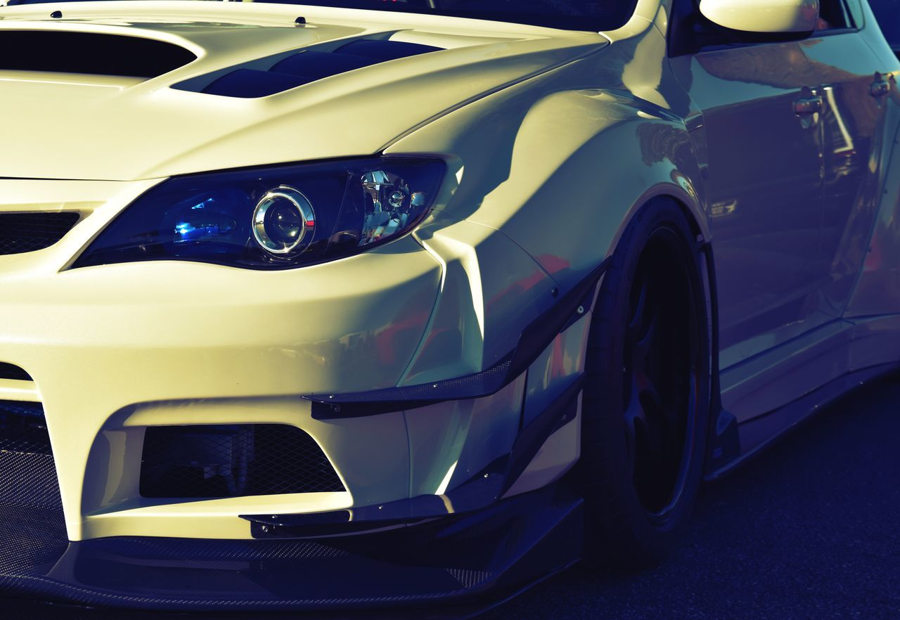 Beauty can be expressed in many different ways. Car Transportation Mode Of Transport Close-up Old-fashioned Shiny Motorsport Auto Racing No People Collector's Car Racecar Motor Racing Track Day Outdoors City Carmeet Art Beauty White Ride Subaru