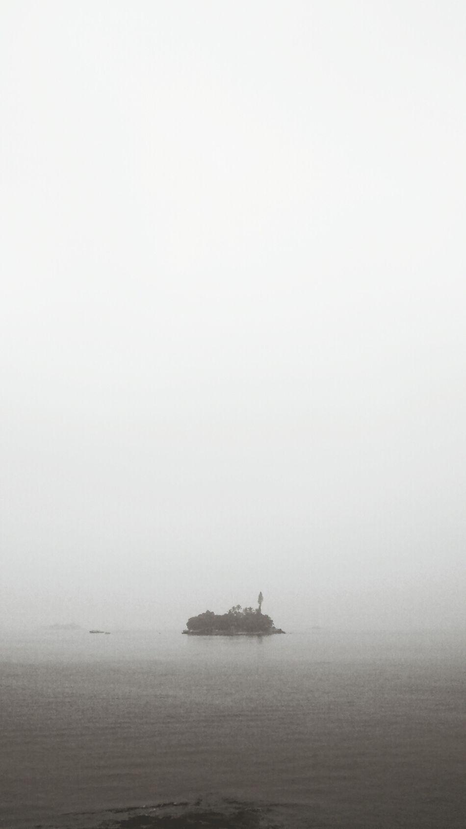 Morning Island Fog Sea