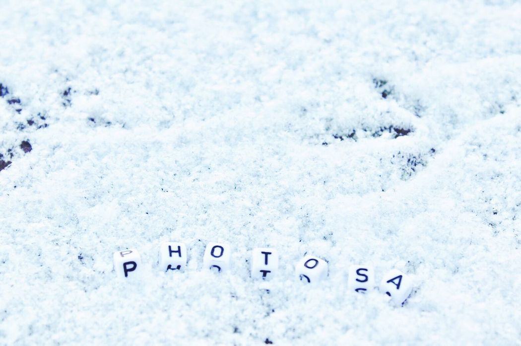 Follow me in my instagram page --> @photo.sa_ Cold Temperature Snow Winter White Color Text No People Communication Close-up Symbol Outdoors Nature Day @photo.sa_ Strasbourg France FollowMeOnInstagram