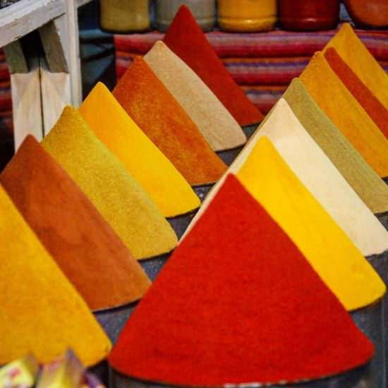 Marrakech spice market Market Morroco Spice Collection Spices Of The World Spices Morroc Marrakech Multi Colored Indoors  Close-up No People Variation Red Food Stories An Eye For Travel