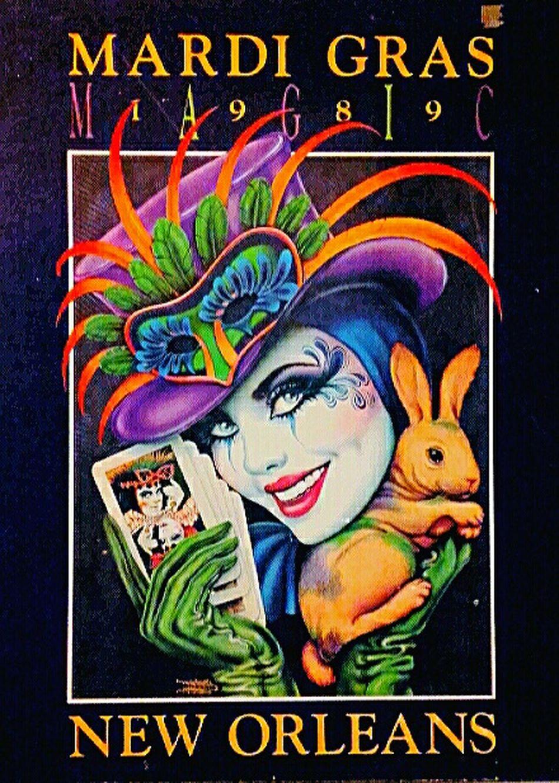1989 Mardi Gras New Orleans Poster Mardigras Posters Mardigrastheme Mardi Gras 1989 Posterart Mardi Gras Posters MardiGrasNewOrleans Colorful Mardi Gras Magic Postercollection Poster Art Poster Collection Mardigras1989 Mardi Gras New Orleans Posterporn Poster Wall Art Color Posters Colour Posters Neworleans Multi Colored