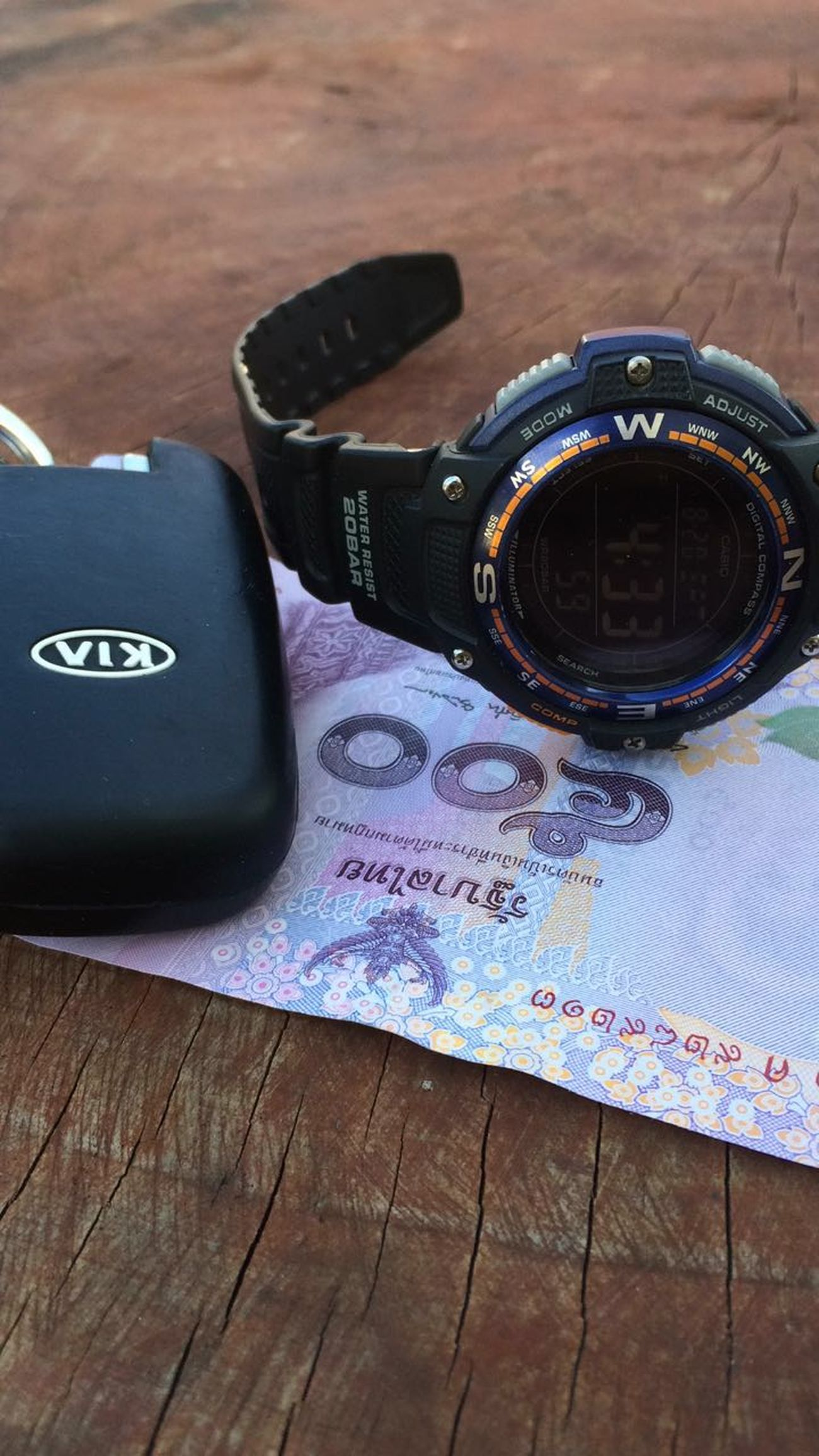 Baht Thai Camera - Photographic Equipment Casio Casio Watch Day Kia No People Photography Themes Table