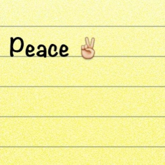 Peace!(: ✌Dayeighteen Januarychallenge
