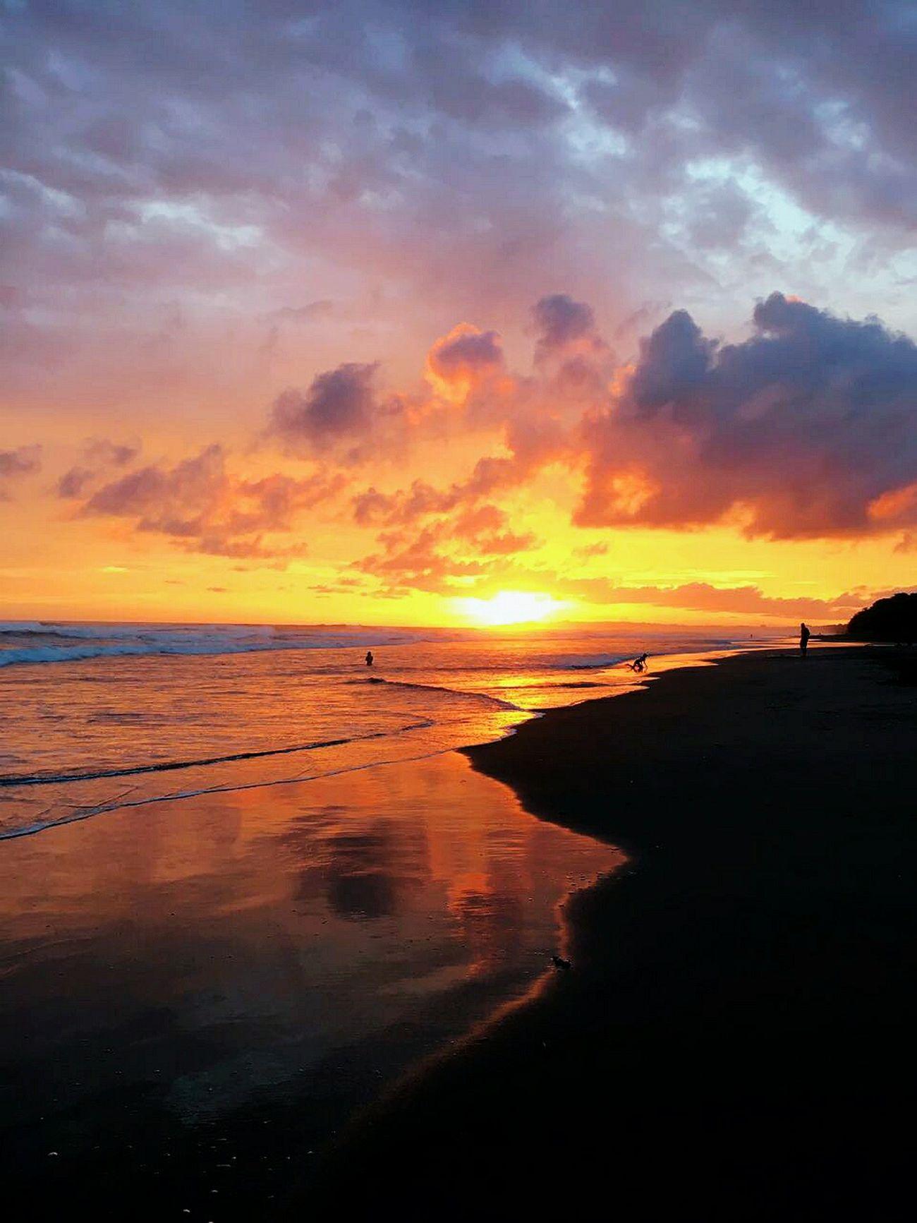 Beach Beauty Sunset Orange Color Nature Landscape Multi Colored CostaRica! Beautiful Sunset Water Pura Vida ✌