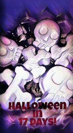 Multi Colored Creativity Text Decoration Ilovehalloween Halloween Skulls Crossbones