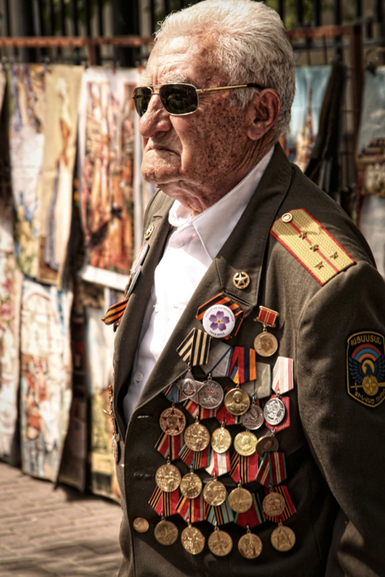 Old man, ex-russian soldier with military decoration - Russia/Moscow Adult Adults Only Men Military Decoration Moscow One Man Only One Person Only Men Outdoors Real People Russia Senior Adult Senior Men Soldier