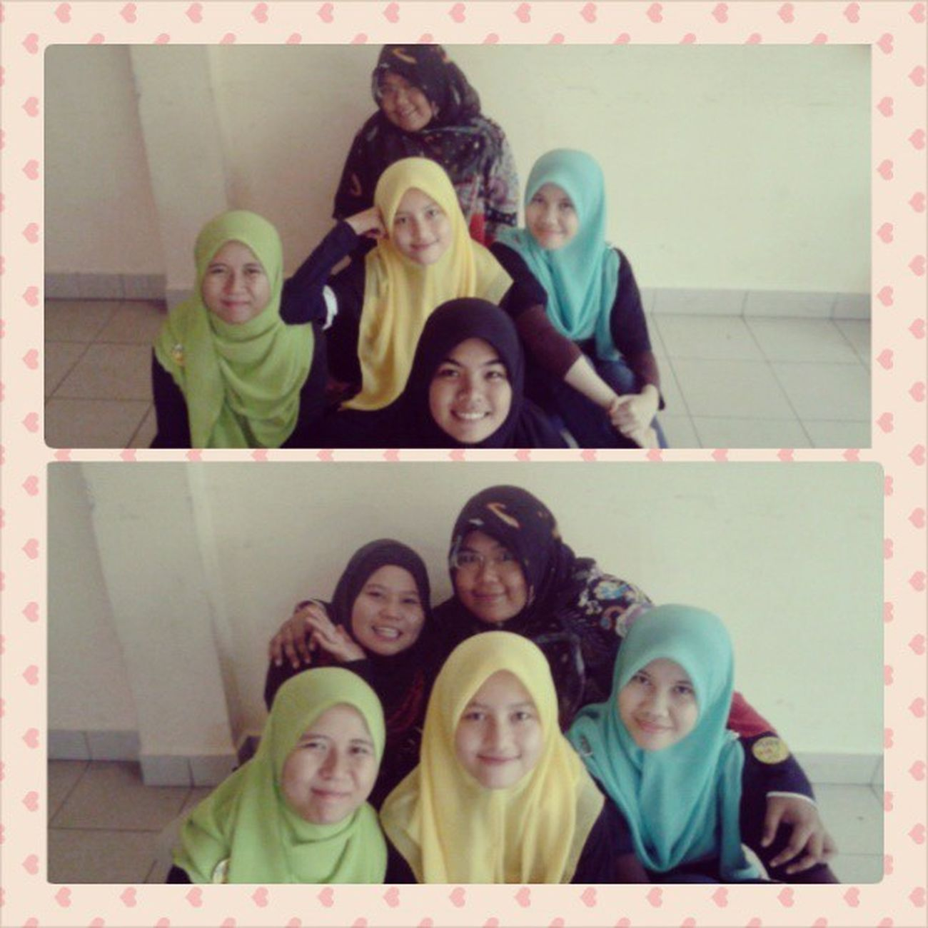 "Because really I love these girls so much laaa xoxo muahhhh * gedik pulak saye * hehe.. *Aiman, Hana, Jihan, Maziah, Husna and me :"") Friends JPK Seki KolejInderaSakti uitmperak ukhwahfillah sisters bonding love family"