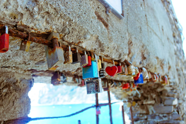 Chinqueterre Close-up Day Faith Hanging Italy🇮🇹 Love Lock Love ♥ Monterosso Al Mare Sky Summer Water