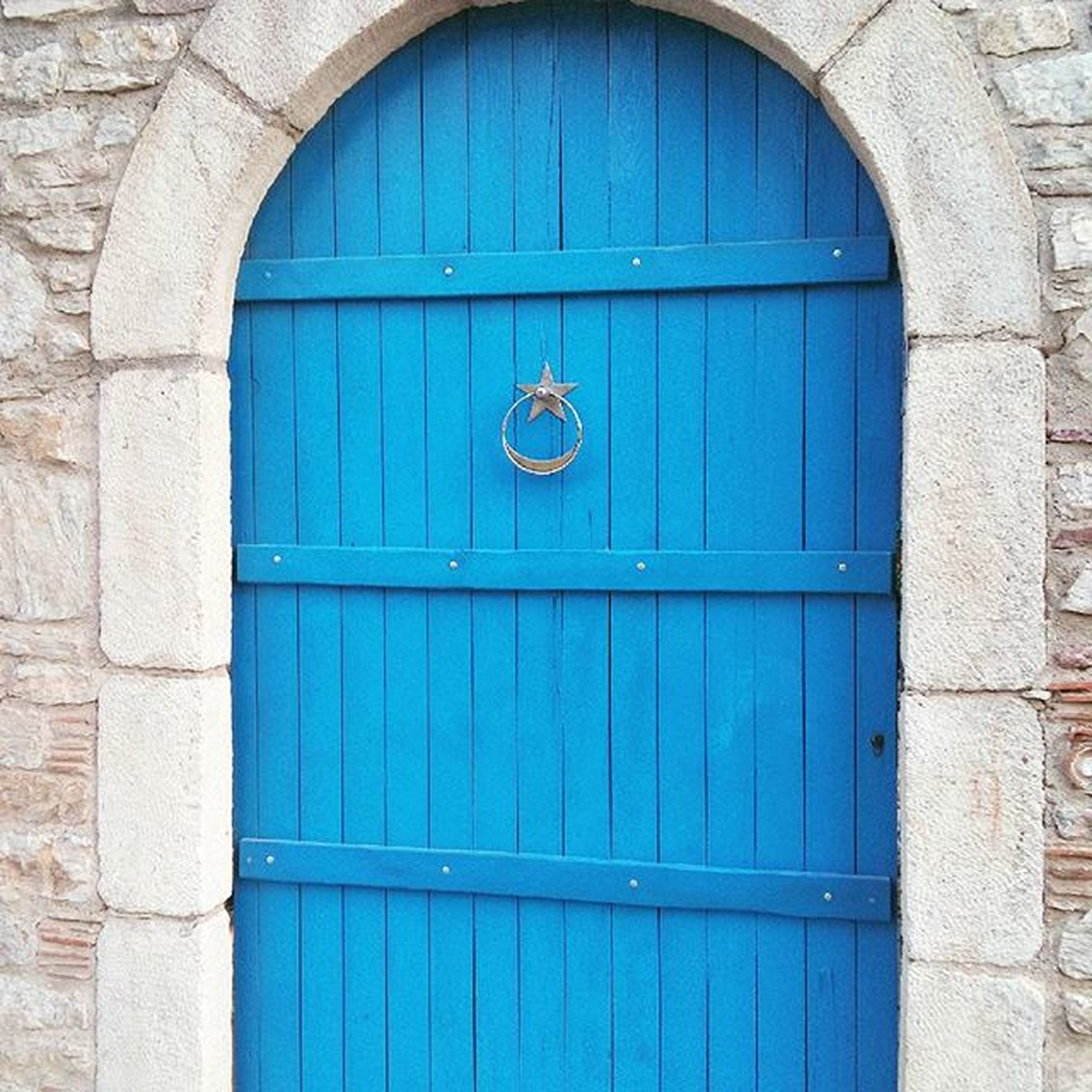door, closed, blue, architecture, day, built structure, outdoors, building exterior, no people, wood - material, close-up