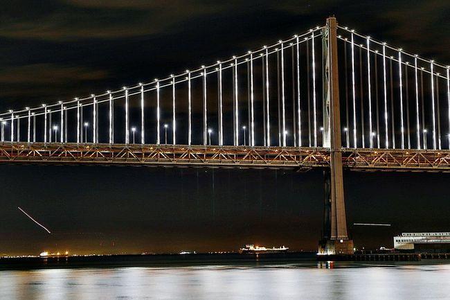 Bae Lights. Nightphotography Night Longexposure Canon6d Lighttrail Sanfrancisco Baybridge Baylights