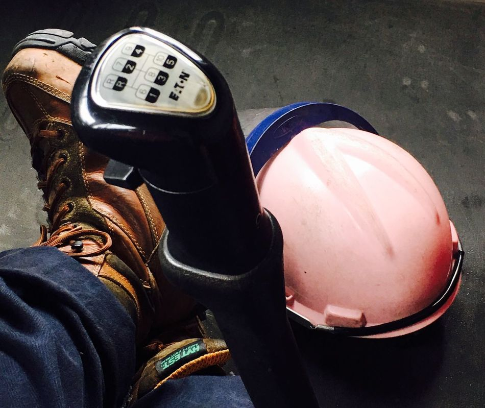 Real People One Person Human Leg Lifestyles Low Section Human Body Part Leisure Activity Close-up Day Working Woman Working Women Gear Pink Hard Hat Hard Hat Work Boots Truckerslife Millennial Pink