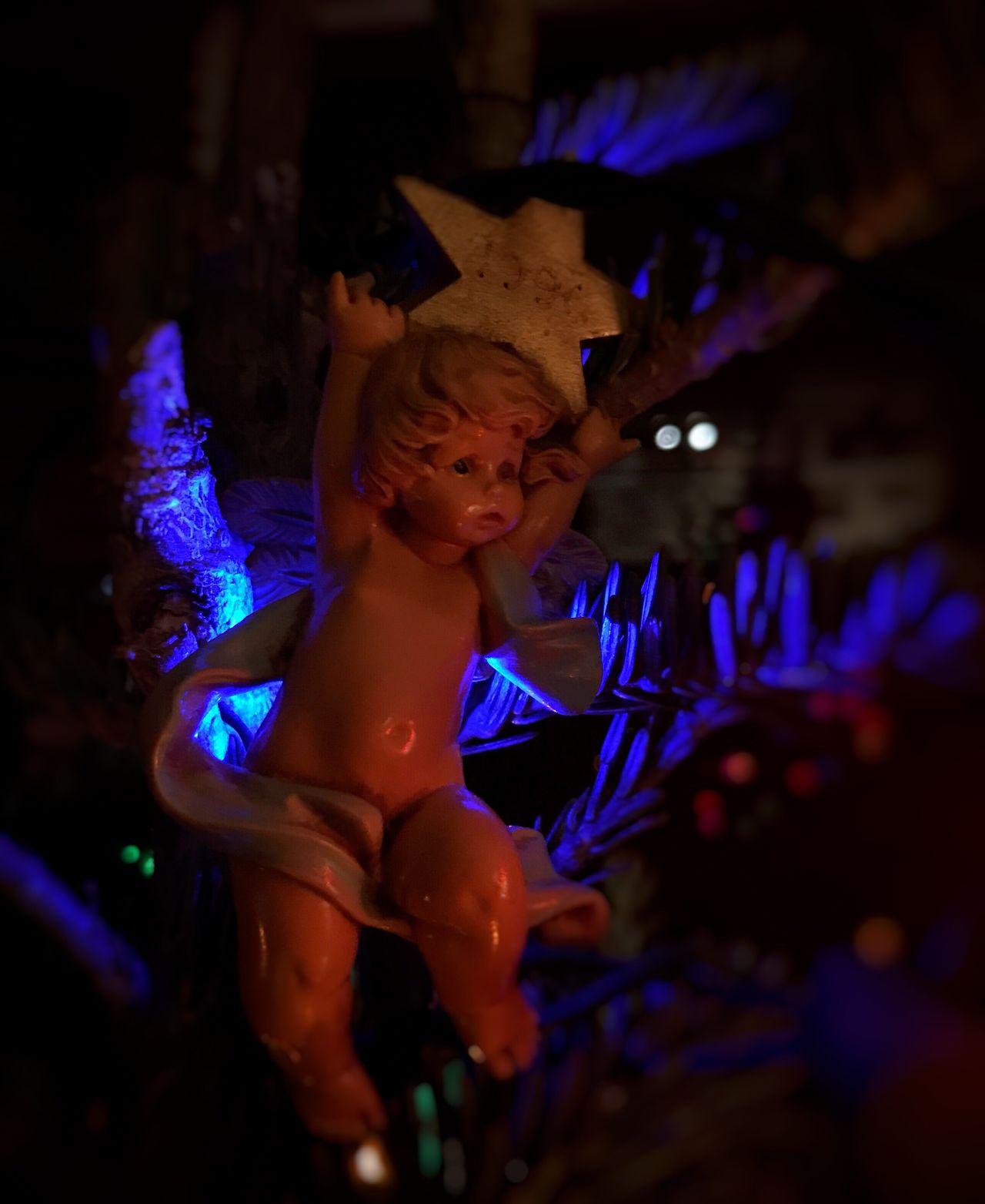 Holiday Holidays Christmas Lights Christmas Decorations Angel Holiday Lights Christmas Tree Blue Lights  Blue Light Holiday Lighting Holiday House Fresh On Eyeem