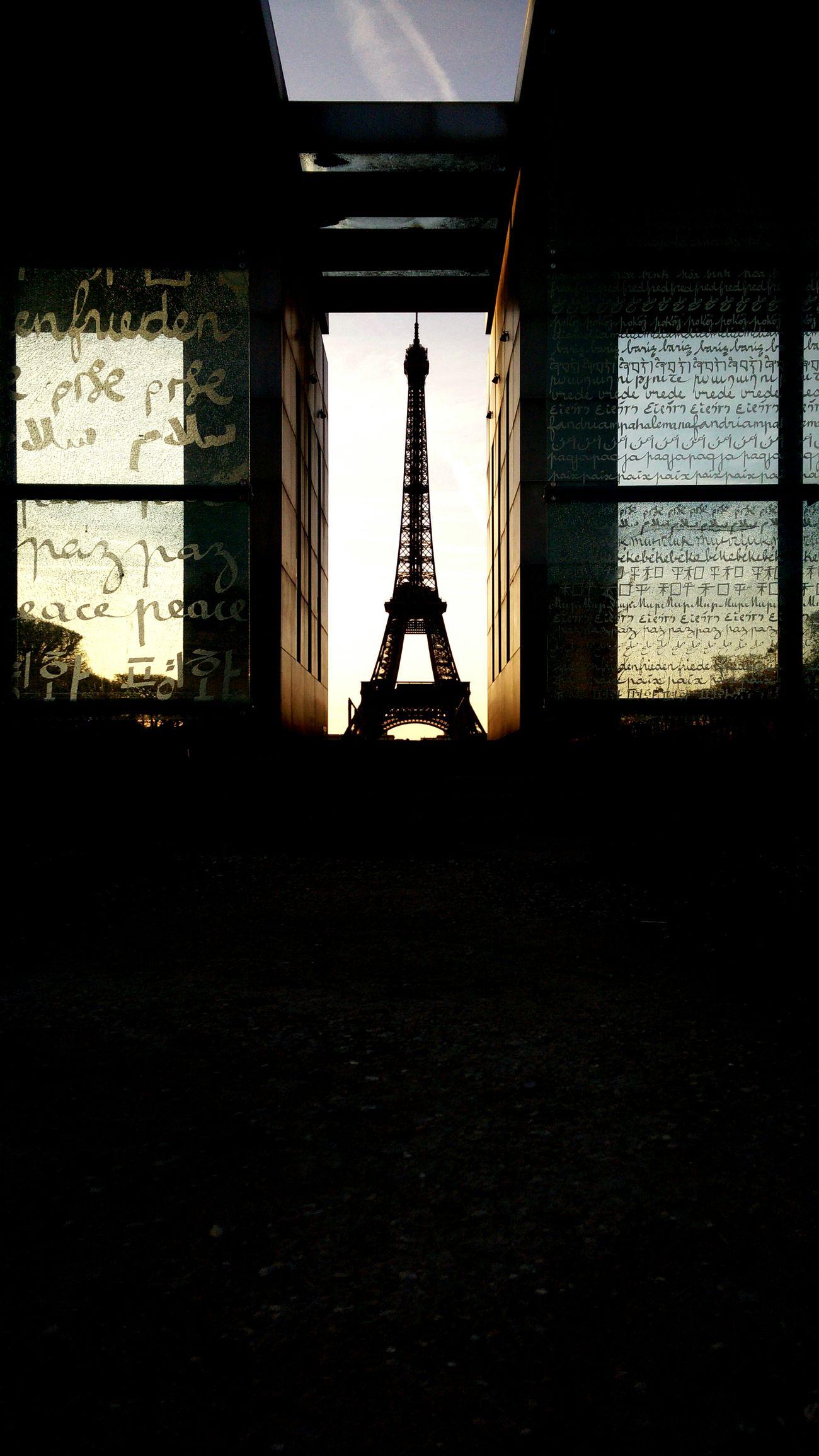 Eiffel Tower Parissunset Paris Sunset