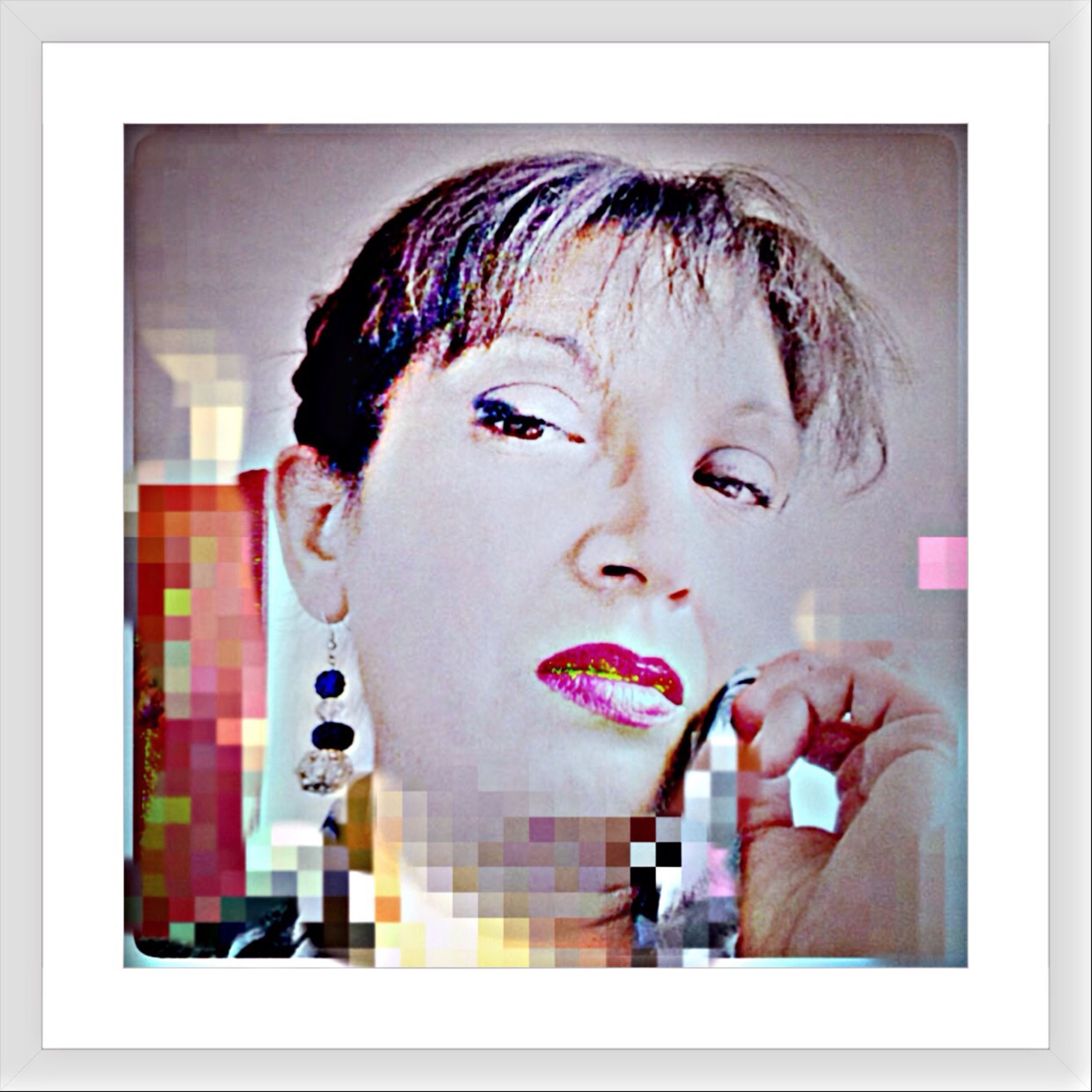 transfer print, auto post production filter, creativity, art, indoors, art and craft, lifestyles, human representation, headshot, leisure activity, close-up, portrait, front view, animal representation, looking at camera, human face