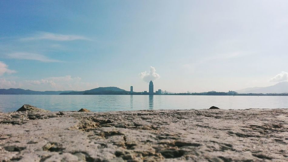 Boring Poke The Cloud!   Huaweip8 Lite   Ocean And Hills