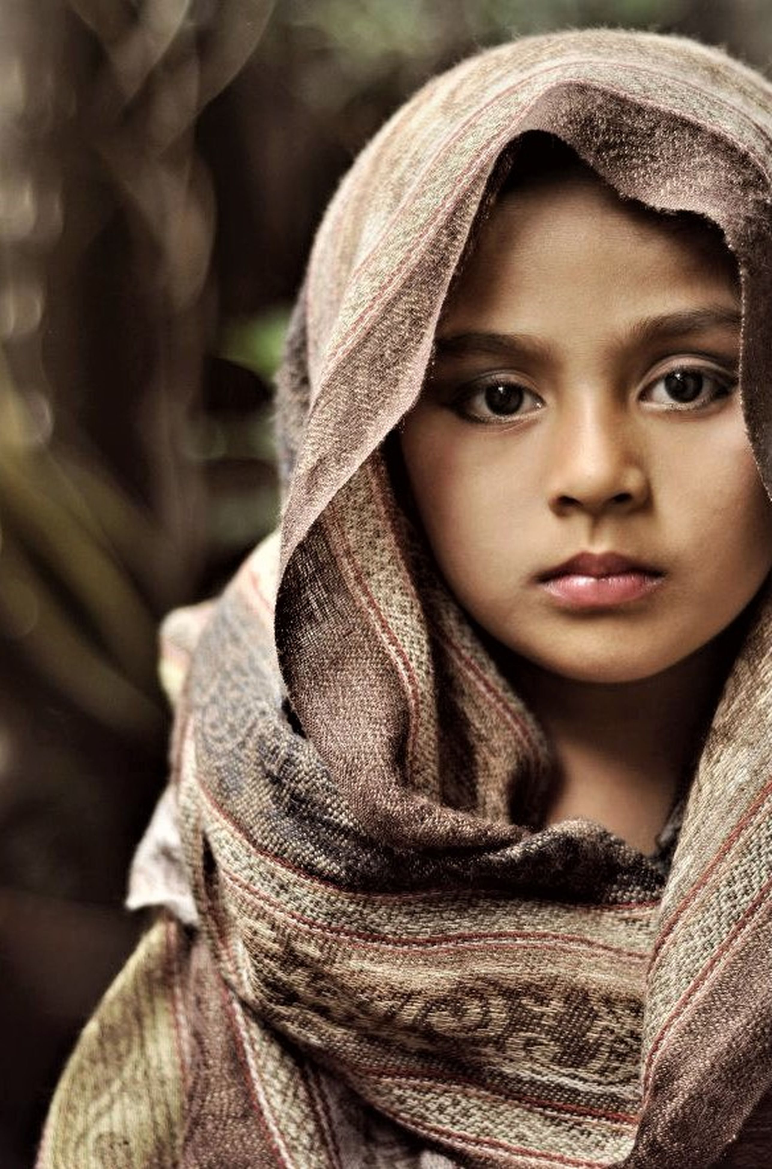 childhood, one person, portrait, headshot, close-up, girls, human face, looking at camera, real people, outdoors, child, day, warm clothing, people