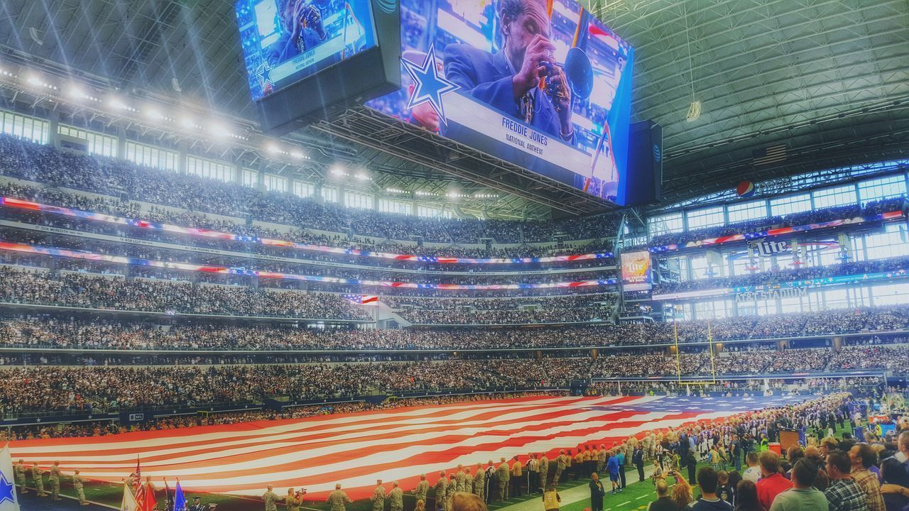 Let's start the show... hanging out in Jerry's World. Illuminated Large Group Of People Multi Colored People Stadium Sports Venue Dallas Cowboys Snapseed Hdr_Collection Maximalism Enjoying The View My Year My View