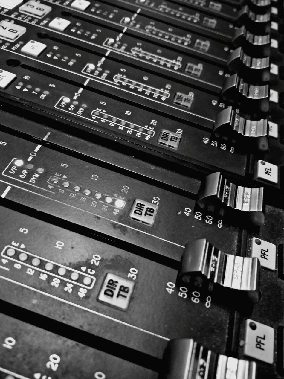 Audio Mastering Audio Engineering Audio Studio Audio Equipment Audio Mixer Audio Amplifier Sound Console Sound Mixer Faders Black And White Photography Indoors  Detail Detail Close-up Close-up Everything In Its Place Monochrome Photography Beautiful Organized Close Up Technology