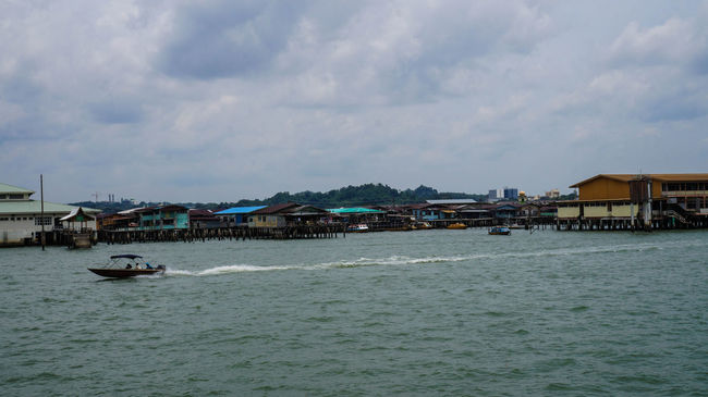 views of the Water village Brunei Darussalam Eye4photography  Enjoying The View Clouds And Sky