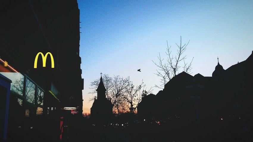 Communication Silhouette Outdoors Night No People Illuminated Architecture City Sky