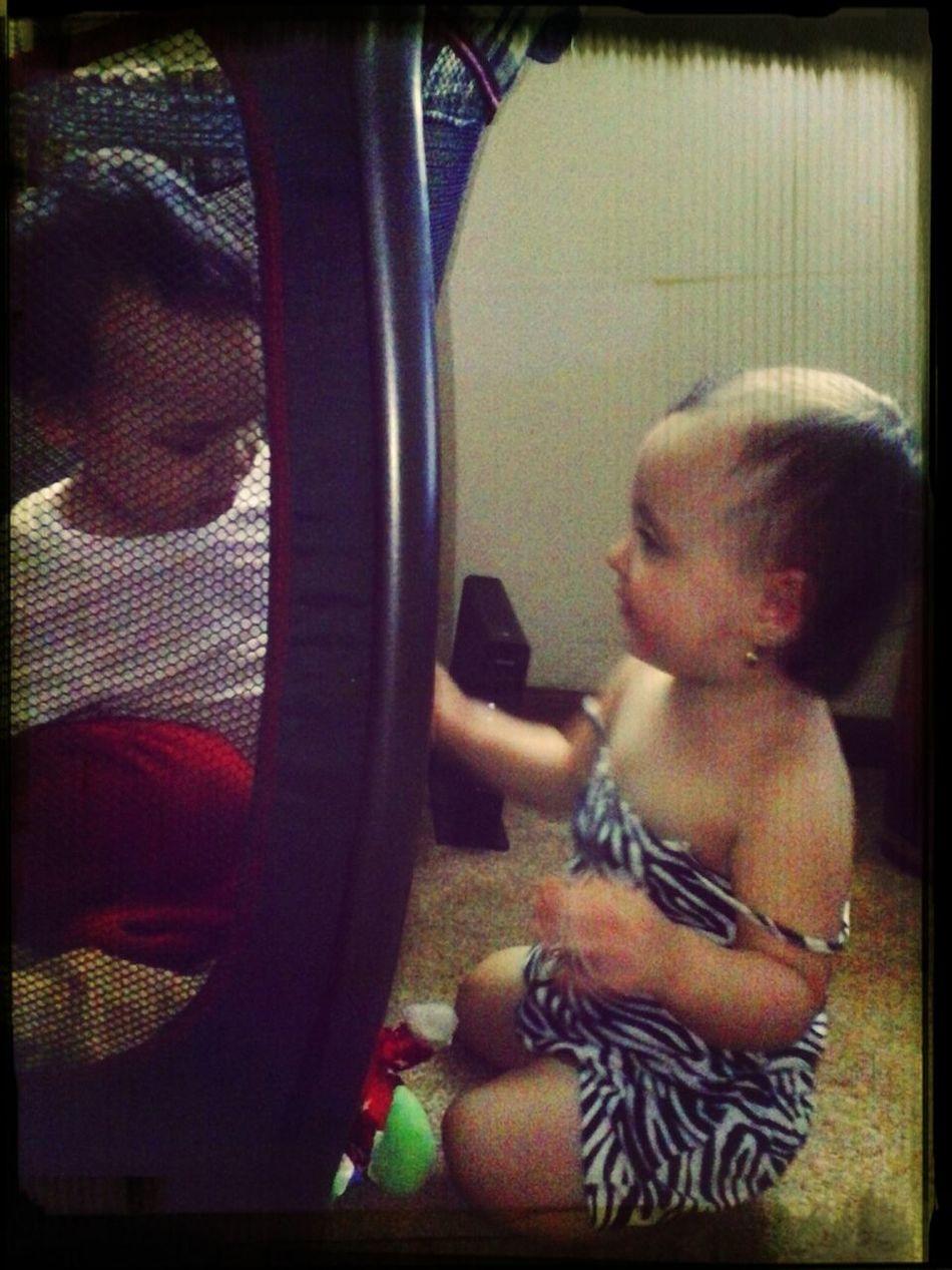 LB & Emi Playing