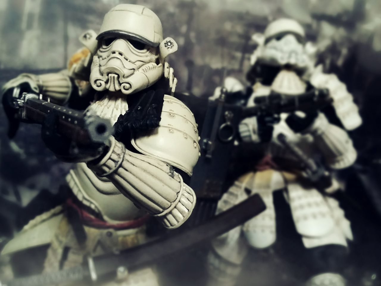 Heavy Artillery Action Figures BANDAI Samurai Toys Toy Photography Movie Realization Teppo Ashigaru Sandtrooper Ashigaru Stormtrooper Star Wars War