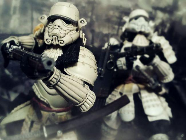 Heavy Artillery Action Figures BANDAI Samurai Toys Toy Photography Movie Realization Teppo Ashigaru Sandtrooper Ashigaru Stormtrooper Star Wars War