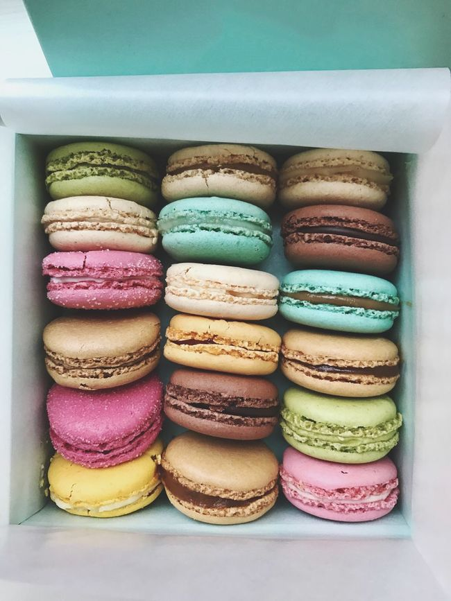 Battle Of The Cities Macarons Macaron Food Food And Drink Indulgence Multi Colored Freshness Sweet Food Temptation Ready-to-eat Arrangement Indoors  Still Life In A Row High Angle View Macaroon Stack Close-up Plate Variation Colorful