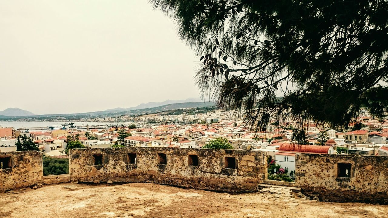 View of Rethymno from venetian fortezza Ruins Outdoors No People Cityview Panoramic View Tree Sky Day Nature Architecture Traveling Crete Greece Miles Away Miles Away