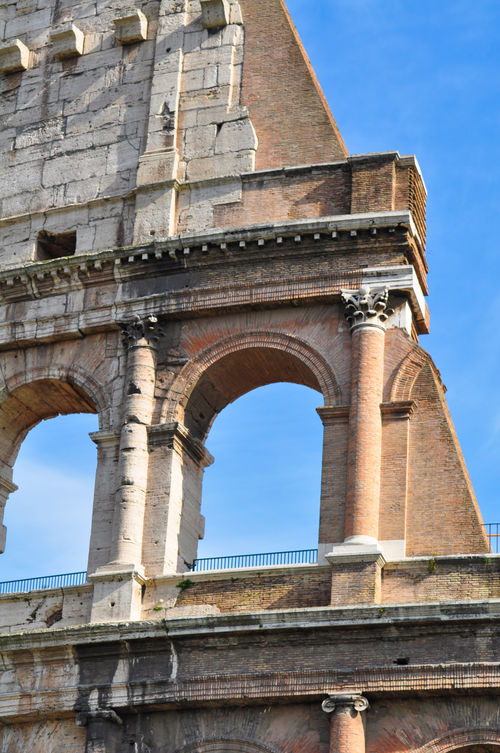 Ancient Arch Architecture Blue Built Structure Coluseum Culture Day Famous Place Historic History Italy No People Old Rome Sky The Past Tourism Travel Destinations Fine Art Photography On The Way