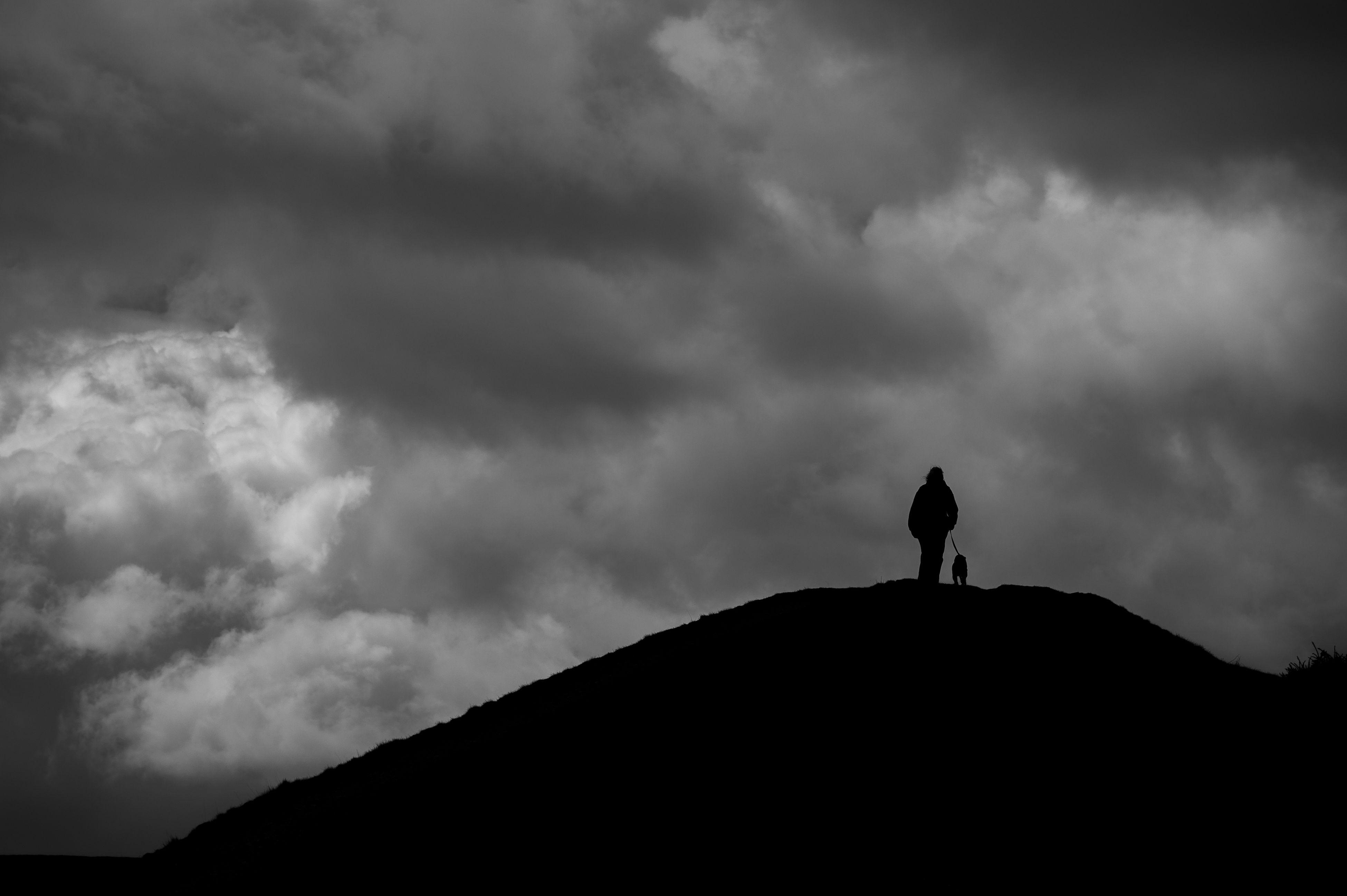 British Camp, Malvern. Silhouette Cloud - Sky Sky Nature One Person Dramatic Sky Landscape Outdoors Worcestershire Malvern British Camp Monochrome Black & White Blackandwhite Silhouette