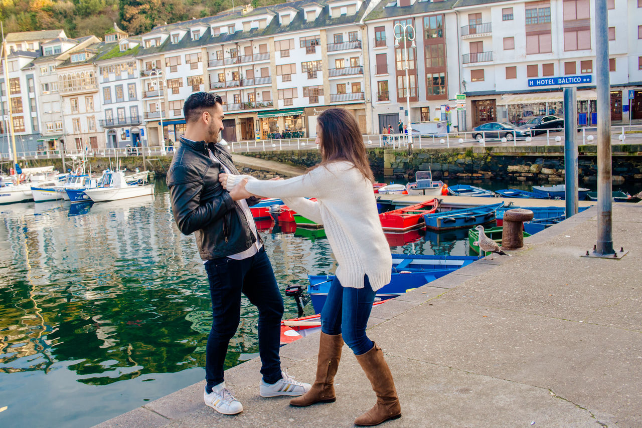 Beautiful stock photos of freundschaft, happiness, two people, city, carefree
