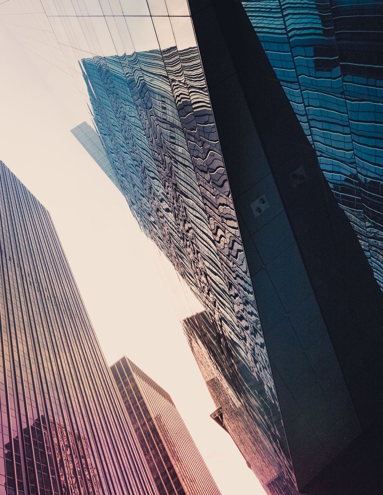 Fracture Architecture Building Exterior Built Structure City Day Low Angle View No People Outdoors Sky Skyscraper The Architect - 2017 EyeEm Awards Window