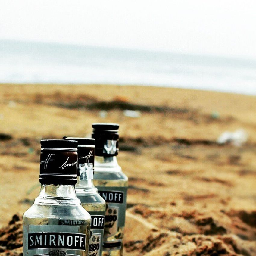 Smirnoff by the Beach . And the Sunset over the waves. Bliss Teetotaler Dontdrink Bhubaneswar Odisha Canon1100d Perfocal