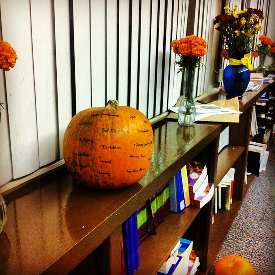 My burden pumpkin before I smashed it Youthroom Youthgroup Pumpkin Burdens letgo God catholic secondhome simplybeingalice