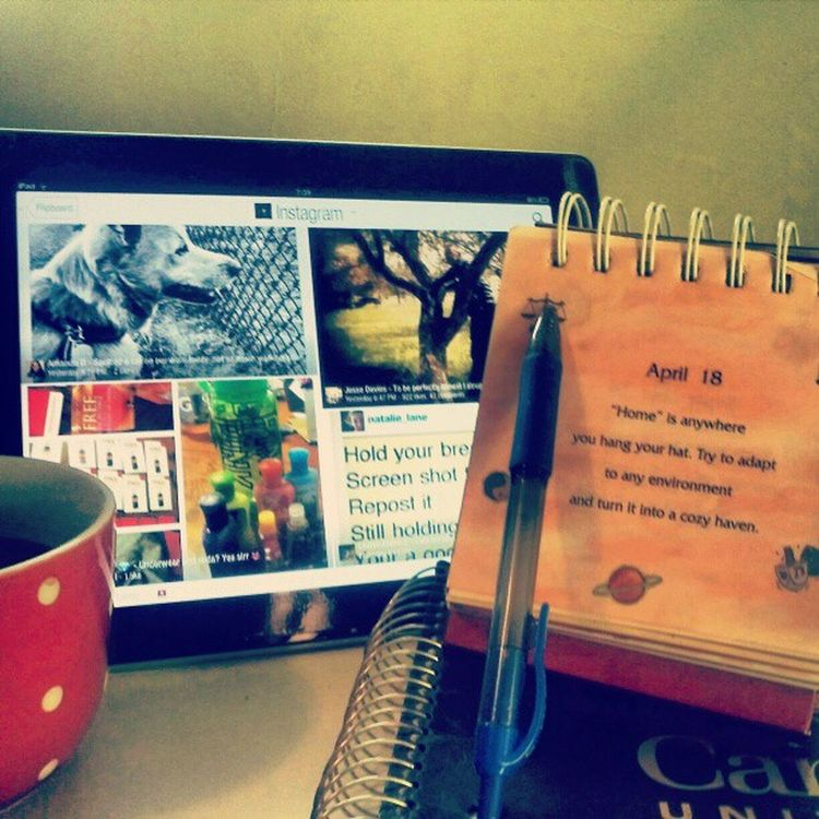 This is how i start my day, fresh cup o' tea n a daily dose of instagram, coffee's for the rough days Insta4life T4life