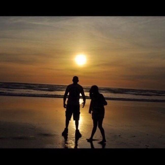 Me And My Daddy  Sunset Beach Oregon Coast