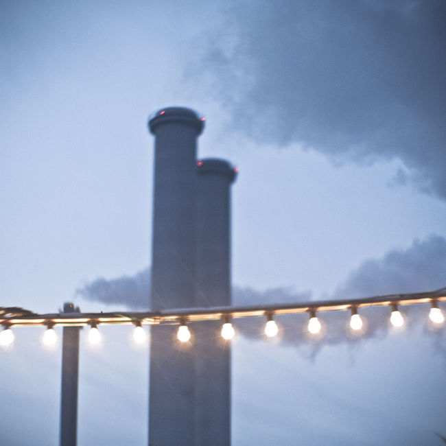 Architecture Cloud Cloud - Sky Dusk Illuminated Lens Flare No People Outdoors Railing Sky Tranquil Scene Tranquility