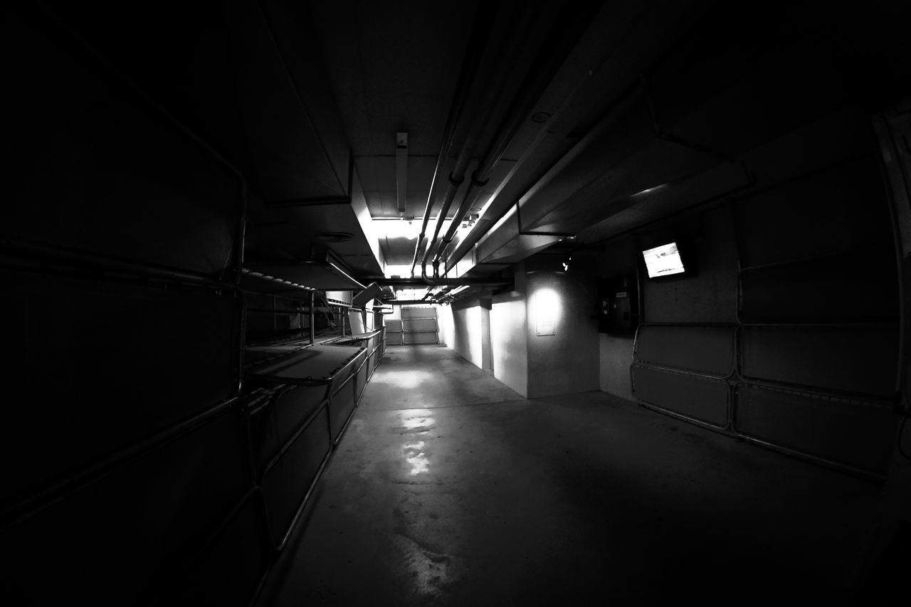 Empty Corridor On Industry
