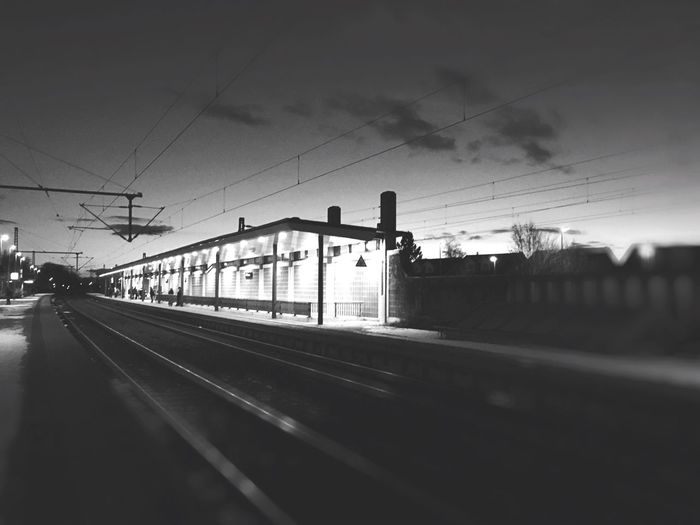 The train has not arrive yet Bahnhof Haltestelle Train Railway Sunset Blackandwhite Light And Shadow Grey Baden-Württemberg  Germany First Eyeem Photo IPhoneography Iphoneonly IPhone