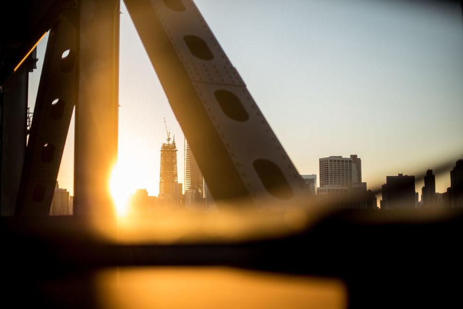 Architecture Bridge - Man Made Structure Building Building Exterior Built Structure City Skyscraper Sun Sunlight Sunset Urban Skyline